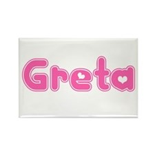"""Greta"" Rectangle Magnet"