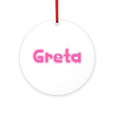"""Greta"" Ornament (Round)"