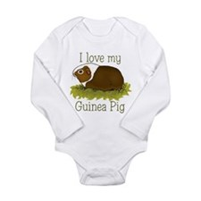 I Love my Guinea Pig Long Sleeve Infant Bodysuit