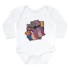 Quilting Long Sleeve Infant Bodysuit