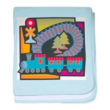 Electric Trains Infant Blanket