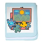 Jigsaw Puzzle Infant Blanket