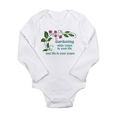 Gardening adds Years Long Sleeve Infant Bodysuit