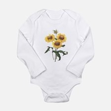 Redoute Sunflowers Long Sleeve Infant Bodysuit