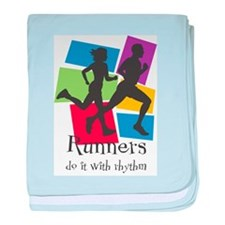 Runners Do It with Rhythm Infant Blanket