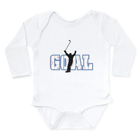 Hockey Goal Long Sleeve Infant Bodysuit