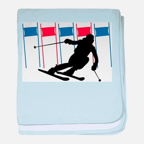 Ski Competition Infant Blanket