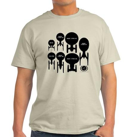 USS Enterprise History Light T-Shirt