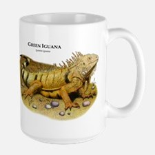 Green Iguana Ceramic Mugs