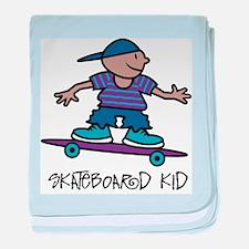 Skateboard Kid Infant Blanket