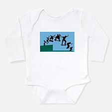 Skateboard Evolution Long Sleeve Infant Bodysuit