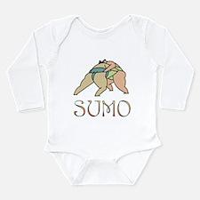 Sumo Wrestling Long Sleeve Infant Bodysuit