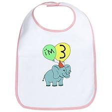 Third Birthday Elephant Bib