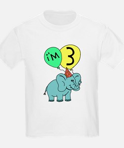 Third Birthday Elephant T-Shirt