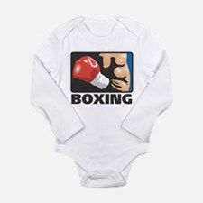 Boxing Long Sleeve Infant Bodysuit