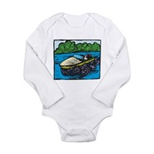 Motor Boat Long Sleeve Infant Bodysuit
