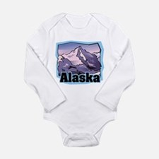 Alaska Mountains Long Sleeve Infant Bodysuit