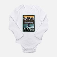 Alaska Whale Long Sleeve Infant Bodysuit