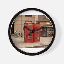 Cute Red phone box Wall Clock
