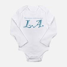 Coolest Chicks from L.A. Long Sleeve Infant Bodysu