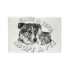 Adopt a Pet Rectangle Magnet