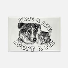 Adopt a Pet Rectangle Magnet