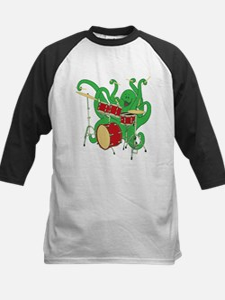 Octopus Drummer Kids Baseball Jersey