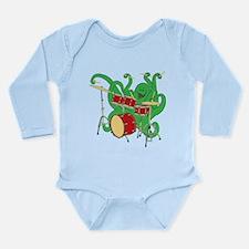 Octopus Drummer Long Sleeve Infant Bodysuit