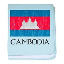 Cambodia Flag Infant Blanket