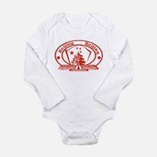 Beijing Passport Stamp Long Sleeve Infant Bodysuit