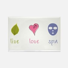 Live Love Spa Rectangle Magnet