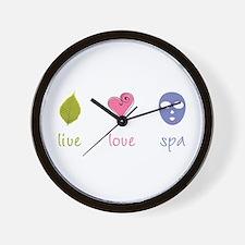 Live Love Spa Wall Clock