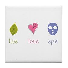 Live Love Spa Tile Coaster