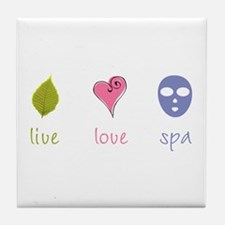 Live Love Spa Tile Coaster
