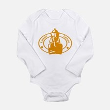 Luxor Passport Stamp Long Sleeve Infant Bodysuit