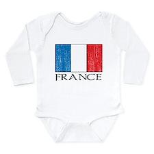 France Flag Long Sleeve Infant Bodysuit