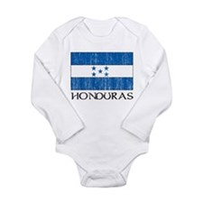 Honduras Flag Long Sleeve Infant Bodysuit