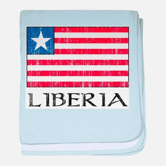 Liberia Flag Infant Blanket