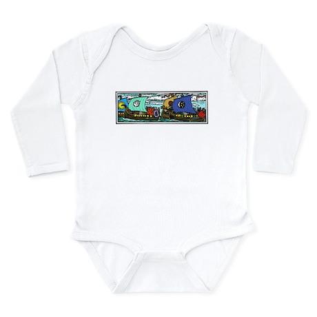 Nordic Boats Long Sleeve Infant Bodysuit