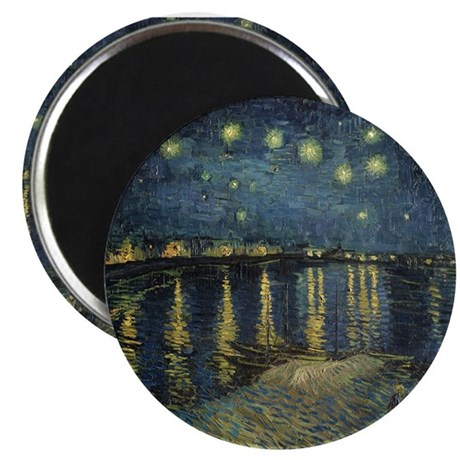 The Starry Night by Vincent Van Gogh Magnets