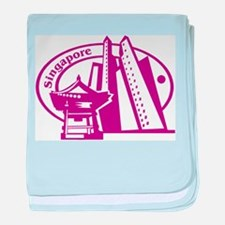 Singapore Passport Stamp Infant Blanket