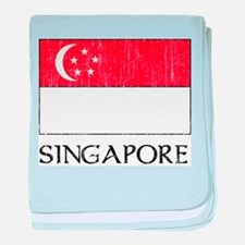 Singapore Flag Infant Blanket