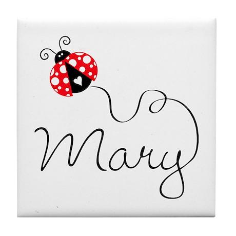 Ladybug Mary Tile Coaster