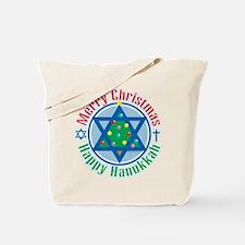 Christmas-Hanukkah Tote Bag