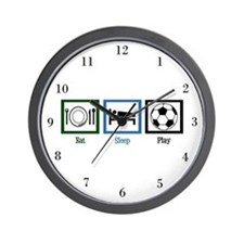 Eat Sleep Soccer Wall Clock