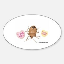 Stink Bug Sticker (Oval)