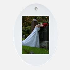 Bride Cry Parents Grave Ornament (Oval)