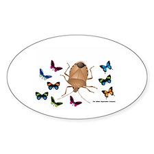 Stink Bug Sticker (Oval)