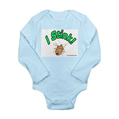 Stink Bug Long Sleeve Infant Bodysuit