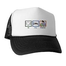 Eat Sleep Breastfeed Trucker Hat